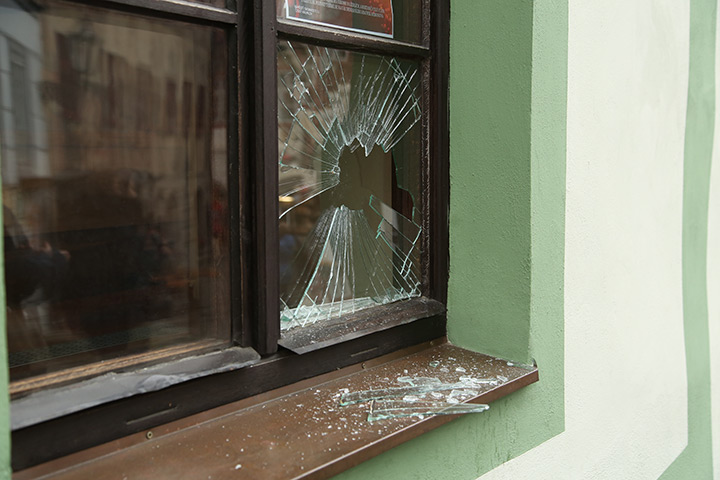 A2B Glass are able to board up broken windows while they are being repaired in Royston.